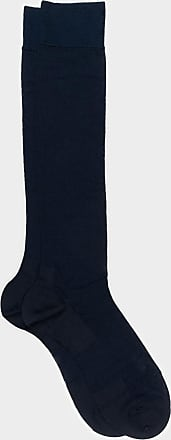 ZD Zero Defects Zero Defects blue mercerized cotton knee socks