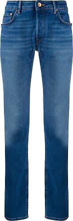 Hand Picked Calça jeans reta cintura média - Azul