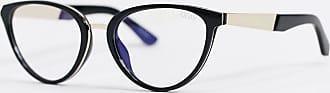 Quay Rumours cat eye blue light glasses in black