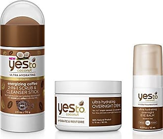 Yes To Coconut Face Kit - Ultra Hydrating for Dry Skin (Scrub & Cleanser Stick, Eye Balm, Facial Souffle Moisturizer)