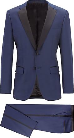 BOSS Slim-fit tuxedo in virgin wool with silk trims