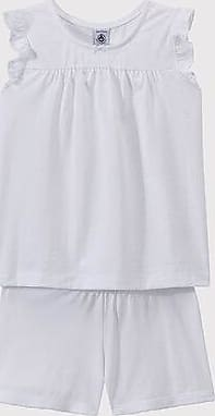Petit Bateau Pijama corto de algodón fino para chica