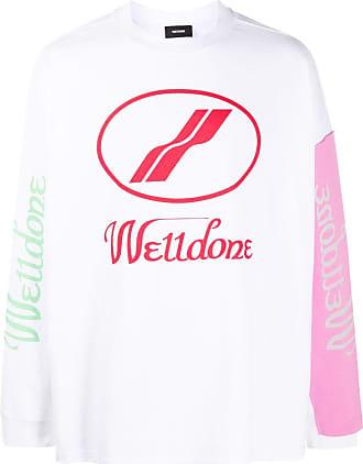 We11done Langarmshirt im Oversized-Look - Weiß