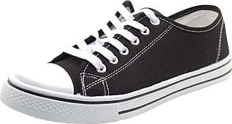 Urban Jacks Ladies Baltimore Canvas Flat Shoes Black UK 4
