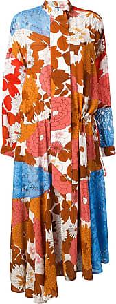 Dodo Bar Or Vestido Ossi com patchwork - Marrom