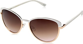 Jessica Simpson Womens J5316 Whrg Non-Polarized Iridium Cateye Sunglasses, White, 65 mm