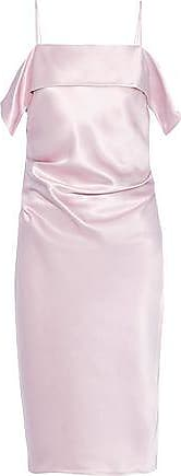 Helmut Lang Helmut Lang Woman Draped Gathered Satin Dress Baby Pink Size 4