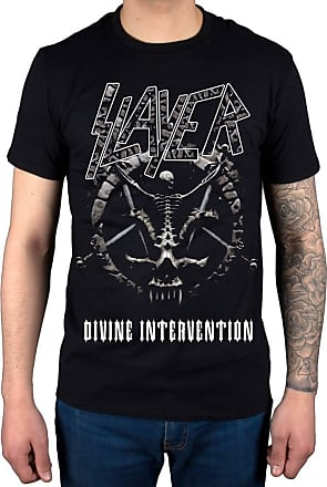 AWDIP Official Slayer Divine Intervention 2014 Dates T-Shirt Black