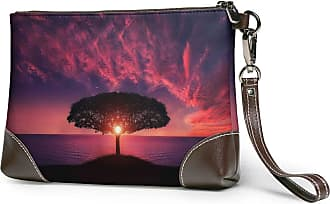 GLGFashion Womens Leather Wristlet Clutch Wallet Amazing Tree Storage Purse With Strap Zipper Pouch