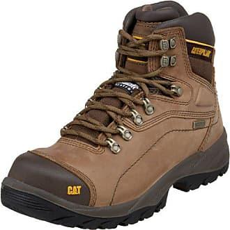 CAT Mens Diagnostic Hi Cut Cap Soft Toe Waterproof Boot,Dark Beige,8.5 W US
