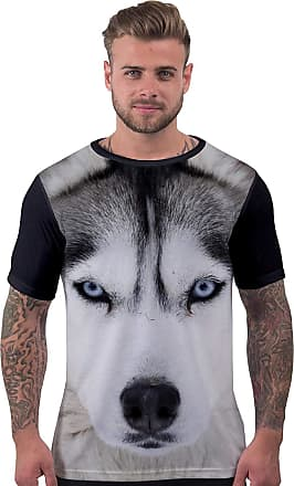 Bang Tidy Clothing Mens All Over Print T Shirt - Black - XL - Husky Dog Face