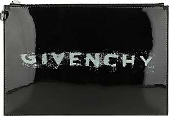 Givenchy Clutch - Iconic Print Pouch Leather Black - black - Clutch for ladies