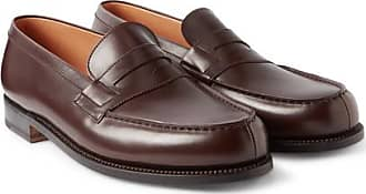 3451c50be1b J.M. Weston 180 The Moccasin Leather Loafers - Dark brown