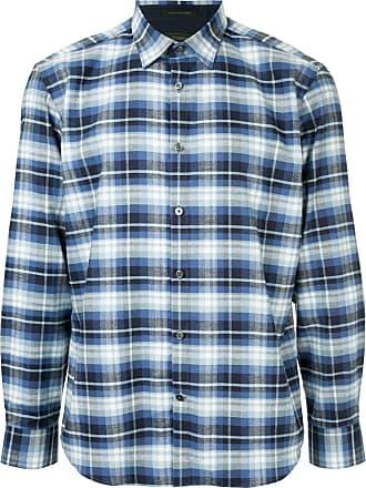 Durban Camisa xadrez mangas longas - Azul