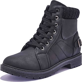 Truffle Womens Winter Warm Comfy Grip Sole Ankle Boots Trainers Boots Shoes - Black - UK 6