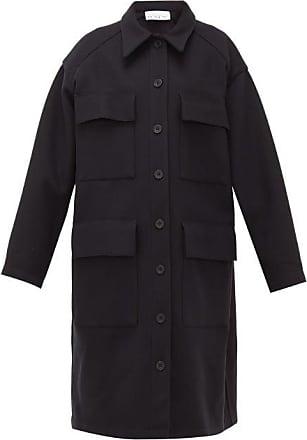 Raey Oversized Long-line Wool Shacket - Womens - Navy