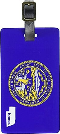 Graphics & More Graphics & More Nebraska Ne Home State Luggage Suitcase Id Tags-Flag, White
