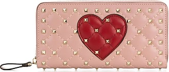 Valentino Garavani Carteira Rockstud Heart - Rosa