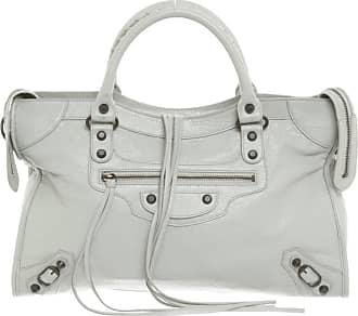 Balenciaga gebraucht - Balenciaga-City Bag aus Leder in Grau - Handtasche - Damen - Leder