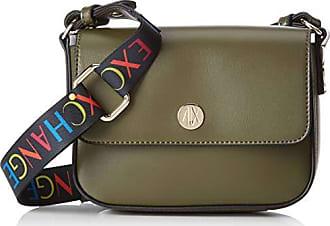 12b11e9f0 Armani Small Crossbody Bag With Round Logo, Bolsos bandolera Mujer, Verde  (Green Hornet