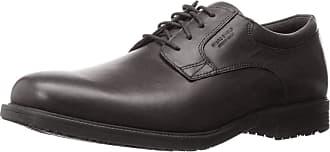 Rockport Mens Essential Details Waterproof Plain Toe Oxford Black 8.5 XW (4E)