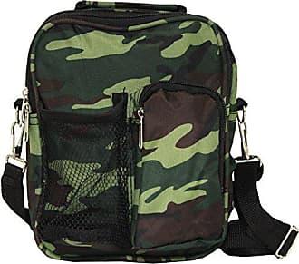 World Traveler 9 Inch Crossbody Day Pack, Green Camo, One Size