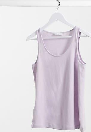 Mango organic cotton vest in lilac-Purple