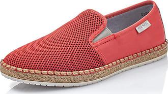 Rieker Men Loafer Flats B5264, Men´s Slipper,Slip Half Shoe,Slip-on,Leisure Shoe,Open Slip-in,red-Black,45 EU / 10,5 UK