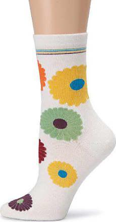 Ozone Womens Mini Flower Power Socks,Ecru,One Size
