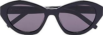 Saint Laurent Eyewear Óculos de sol hexagonal - Preto
