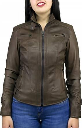 Leather Trend Italy V173 - Giacca Donna in Vera Pelle colore Testa Di Moro Invecchiato