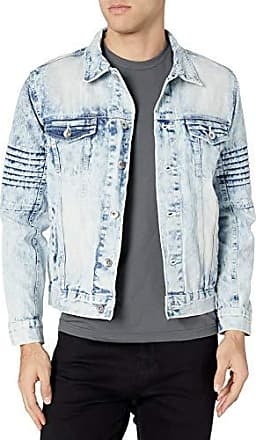 Light Sand Blue Mojito Medium Southpole Mens Premium Fashion Denim Jacket
