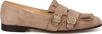 Doucal's Roger Desert Suede Monk Strap Shoes, 37.5 Dark Beige