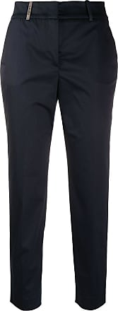 PESERICO cropped tailored trousers - Azul