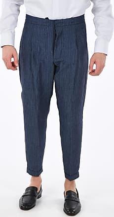 Corneliani CC COLLECTION linen striped EWDEL pants size 52
