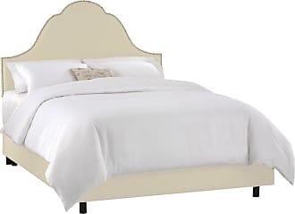 Skyline Furniture Arch Nail Button Velvet Upholstered Bed Velvet-Aubergine Purple, Size: Queen - 852BED-Q-VELVT-AUBRG
