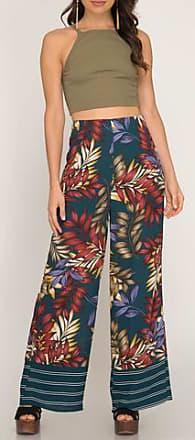 She + Sky Tropical Print Pants