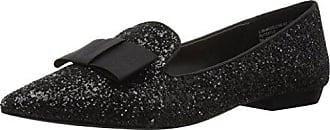 Kensie Womens Madeleine Loafer Flat, Black Glitter, 6 M US