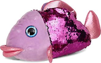 Lora Dora Novelty 3D Plush Slippers Fish Pink 7/8 UK
