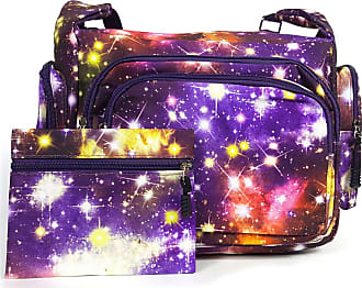GFM Galaxy Messenger Shoulder Bag Fits A4 Folder A4 Pads for Gym, Holiday, Travel Changing Bag (6217-GLX-GHJMN)
