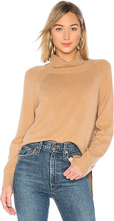 Brown Allan The Turtleneck Rib Sweater in Tan