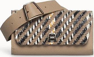 MQaccessories Belt Bag in Cervocalf Leather with Detachable and Adjustable Wide Elastic Belt