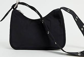Weekday Schwarze Handtasche mit verlängertem Riemen