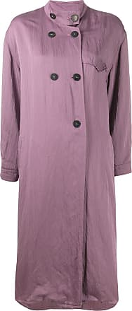 Forte_Forte boxy fit single-breasted coat - PURPLE