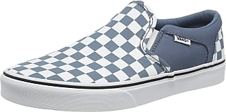Vans Mens Asher Slip On Trainers, Multicolour ((Checkerboard) Blue Mirage/White W50), 9.5 (44 EU)