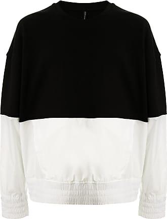 Blackbarrett Moletom color block de algodão - Preto