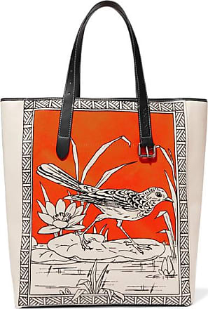 J.W.Anderson Leather-trimmed Printed Canvas Tote - Orange