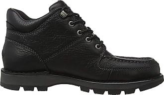 Rockport Mens Umbwe II Hiker Chukka Classic Boots, Black (Black Leather 002), 10 (44.5 EU)
