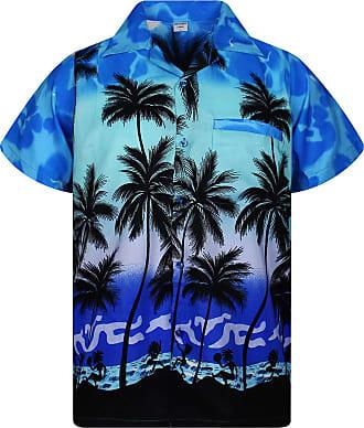 V.H.O. Funky Hawaiian Shirt, Shortsleeve, Beach, MONOBLUE New, 5XL