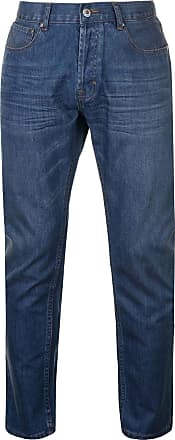 Firetrap Mens Rom Jeans Casual Cotton Trousers Pants Slightly Distressed Look Mid Wash 36W R